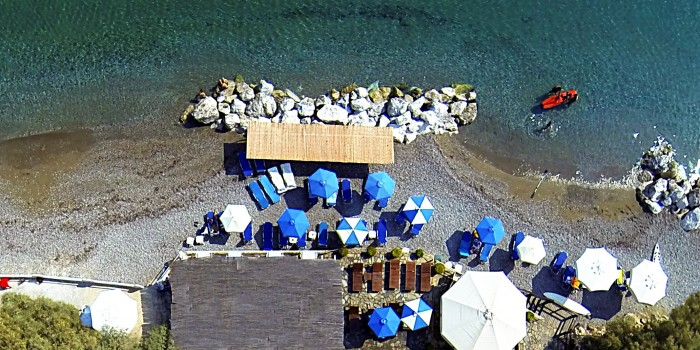 Hotel Lido Melissi Peloponnese Greek Private Beach Aerial Photo