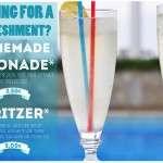 organinc home made lemonade and spritzer at lido hotel