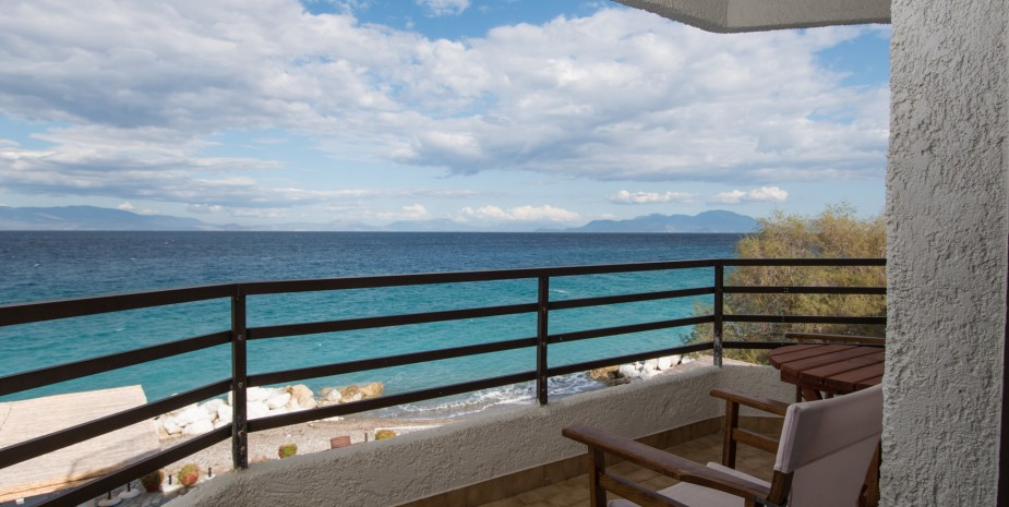 sea view hotel room in peloponnese