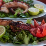 fresh grilled octopus dishes at lido hotel