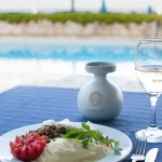 lido hotel restaurant with organic olive oil