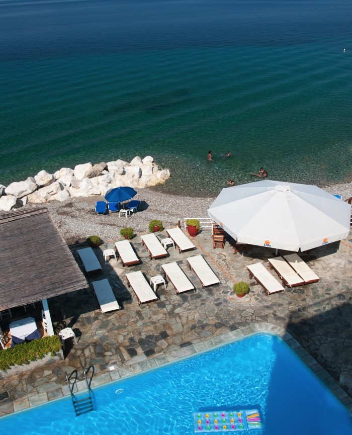 pool by the beach ath lido hotel peloponnese