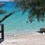 exotic beach at lido hotel in peloponnese