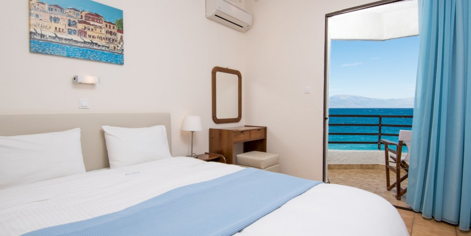 sea view hotel room in peloponnese