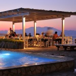 Hotel Lido Restaurant Beach Water View Evening Greece