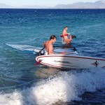 guest windsurfing at lido hotel xylokastro
