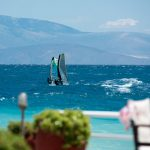 windsurfing at the lido hotel in Greece