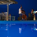 jazz trio pool restaurant greece hotel