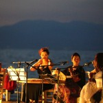 traditional greek music by the corinthian gulf
