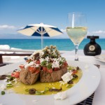 greek dishes greek restaurant seaside