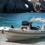 Swim in private beach with crystal clear waters. Boat Trips Lido