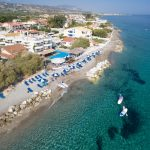 lido hotel aerial view at corinth gulf
