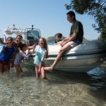 Lake vouliagmeni boat trip organised by Lido Seaside Hotel