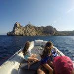 Lighthouse boat trip organised by Lido Hotel Melissi Peloponnese Greece