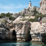 private boat trips around Corinthian Gulf and rock jumping
